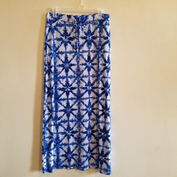 Michael Kors Dresses & Skirts - Michael Kors Blue & White Maxi Skirt Size M